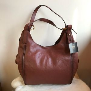 Frye Madison Leather Shoulder Bag Cognac